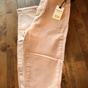 Nude super skinny high waisted jeans